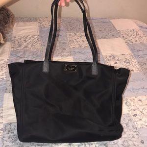 Black nylon kate spade handbag